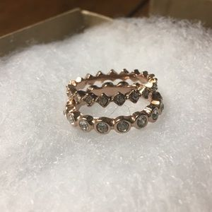 Rose gold ring set